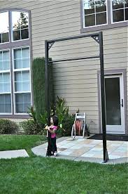 backyard pull up bar awesome do it yourself wise plans