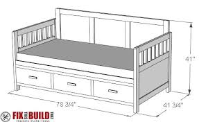 storage bed plans. DIY Daybed With Storage Drawers Twin Bed Plans