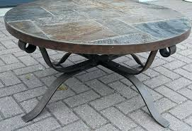 square stone top coffee table metal and stone coffee table co with round top plan 3