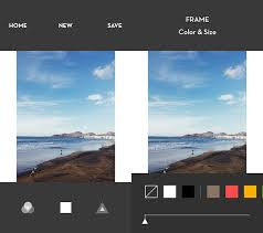 add white frames to insram photos