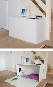 Minimalist IKEA Cabinet Hack, and lots of other ideas on hiding a litter  box. Not just for the litter box but for a dog's or cat's pet bed, when  company is ...
