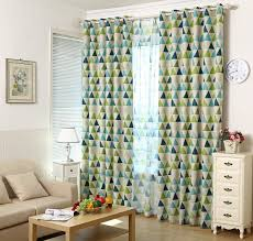 Geometric Patterned Curtains Alifish 1 Panel Geometric Triangle Pattern Thermal Insulated