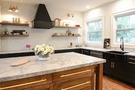 kitchen in kansas city with marble countertops
