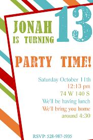 free 13th birthday invitations free printable birthday invitation templates printables birthday