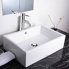 bathroom vessel sinks. aquaterior rectangle porcelain ceramic bathroom vessel sink w/ overflow+12 1/2\ sinks a