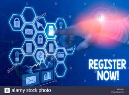 Network Design Online Forum Conceptual Hand Writing Showing Register Now Concept