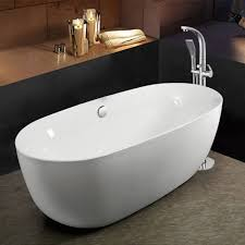 Image Synergy Drench Ellie Acrylic White Freestanding Bath 1700 800mm Drench Freestanding Contemporary Luxury Stand Alone Bathtubs Drench