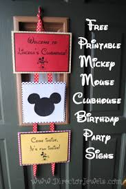 Mickey Mouse Party Printables Free Director Jewels Mickey Mouse Clubhouse Birthday Party Decorations