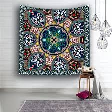 geometry tapestry mandala bohemian tapestry wall hanging hippie tapestry creative geometry tapestry flower bed sacred geometry