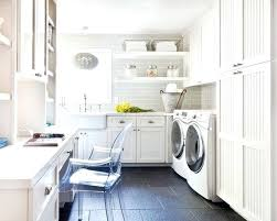 laundry office. Laundry Room Office Combination Hybrid With Light Gray Subway Y