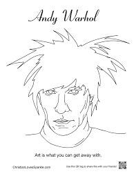 andy warhol coloring book fresh andy warhol printable coloring pages