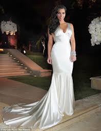 kim kardashian dons wedding dress number 2 at reception with kris