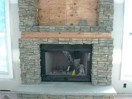 fake fireplace stones decorative pebbles rock wall panels interior home depot faux stone