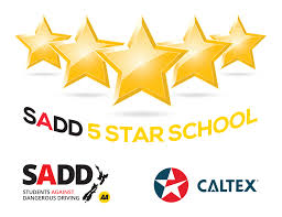 5 Star School — SADD - Students Against Dangerous Driving