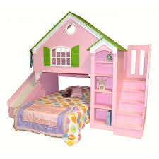 bunk bed with slide for girls. Twin Loft Bed Slide Home Dollhouse Kids Custom Over Beds Woodcrest Alexander Tent With Bunk For Girls