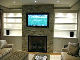 living room ideas with electric fireplace and tv. Electric Fireplace With Tv Above Living Room Ideas And Stacked Stone Fireplaces Modern .
