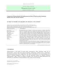 pdf anthropometric design of furniture for use in tertiary institutions in abeokuta south western nigeria