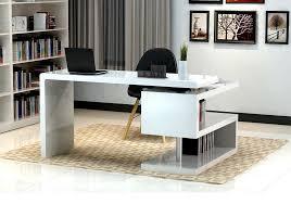 Modern office desk white White Designer A33 Modern Office Desk Creative Furniture A33 Modern Office Desk White Home Office Desk With Sshape