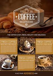 Coffee Shop Brochure Template Free Coffee Shop A24 Flyer Graphic Google Tasty Graphic Designs 1