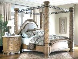 Wrought Iron Canopy Bed Frame Queen White Also Beautiful King Size ...