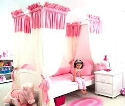 Little Girl Canopy Bed For Toddler Beds Princess Fresh Kids With ...