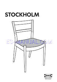 read assembly instruction for ikea stockholm dining chair page 1