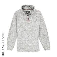 True Grit Putty Frosted Tipped Pullover This Item Runs