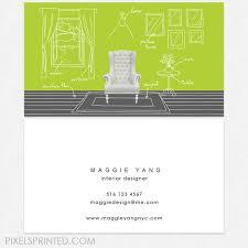 Interior Designer Business Cards New Interior Designer Business Cards DELUXE Thick Color Both Etsy