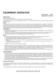 Sample Resume For Heavy Machine Operator New Resume Sample Machine