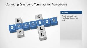 Sell Powerpoint Templates Marketing Crossword Powerpoint Template Buy Sell Success Slidemodel