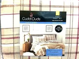 cuddl duds flannel sheet set duds sheets bedding new full heavyweight flannel sheet set red khaki cuddl duds flannel sheet set