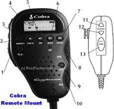 cobra remote mount handset cb radio hh 75wxst controls and indicators for cobra hh 75wxst