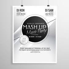 Music Party Flyer Template Layout Design For New Year - Download ...