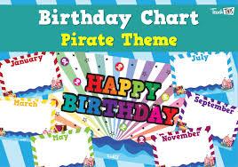 Teacher Birthday Chart Birthday Chart Pirate Teacher Resources And Classroom
