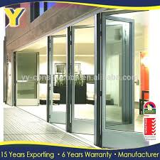 commercial french doors stylish 3 panel patio double glass security with 4