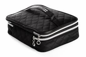 best fashionable satin makeup bag newest black makeup bags with partments