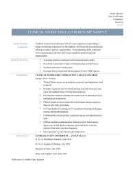 Nurse Educator Resume Clinical Nurse Educator Resume And Template Online Resume