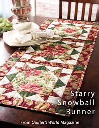 154 best Quilter's World Magazine images on Pinterest | Easy ... & Starry Snowball Runner from the Winter 2013 issue of Quilter's World  Magazine. Order a digital Adamdwight.com