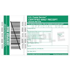 Legal Receipt Of Payment Magnificent Certified Mail Receipt USPS