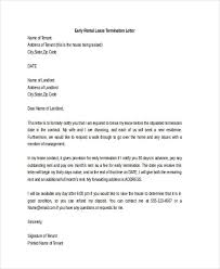 Rental Lease Early Termination Letter