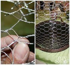 diy wire cloche succulent garden
