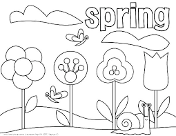 Springtime Coloring Pages Kindergarten Coloring Pages Spring Spring