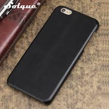solque real leather case for iphone 6 6s plus cell phone luxury slim genuine cow leather hard cover retro vintage matte skin waterproof cell phone cases