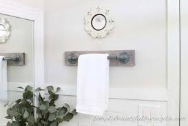 towel hanger ideas.  Ideas DIY Towel Bar From Plumbing Parts And Towel Hanger Ideas B