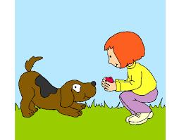 Resultado de imagem para Desenho de crianças brincando com animais