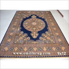9x12 blue large living room handmade oriental rugs hand knotted 100 silk persian carpets