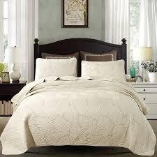 CHAUSUB Simple Solid Color Quilt Set 3PCS Washed Cotton Soft Bed ... & CHAUSUB Simple Solid Color Quilt Set 3PCS Washed Cotton Soft Bed Cover  Sheets Quilted Bedspread King Adamdwight.com