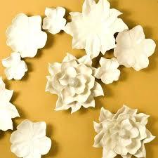 ceramic magnolia wall art