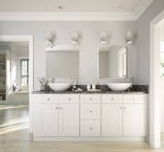 bathroom vanitities. Brilliant White Shaker RTA Cabinets Bathroom Vanitities