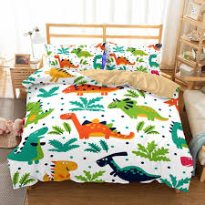 q edition dinosaur pattern printed bedding sets all sizes pillow case quilt cover duvet cover no filler bedding comforter sets bedding sets with